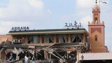 Le restaurant Argana à Marrakech, détruit par un attentat le 28 avril 2011