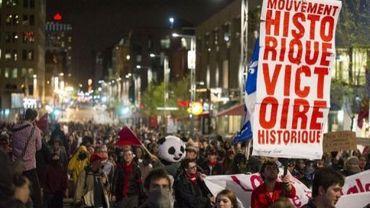 Des étudiants manifestent à Montréal le 17 mai 2012