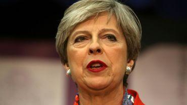 La Première ministre britannique Theresa May s'exprime sur les légilsatives le 9 juin 2017 à Maidenhead