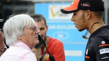 Bernie Ecclestone et Lewis Hamilton
