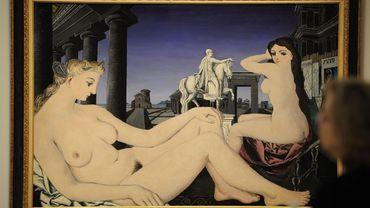 """""""Nu à la Statue"""", une oeuvre de Paul Delvaux"""