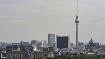 Vue du Reichstag et skyline de Berlin (septembre 2020)