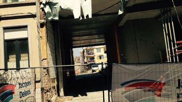 Un chantier de logements sociaux passifs à Ixelles.