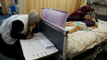 Les organisations actives à Gaza, comme ici Médecins sans Frontières, emploient du personnel local. Leur action se veut totalement indépendante des autorités Hamas.