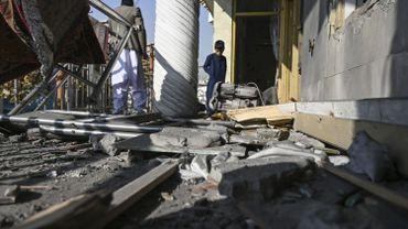 Dégâts suite aux explosions du 21 novembre, dans un quartier de Kaboul