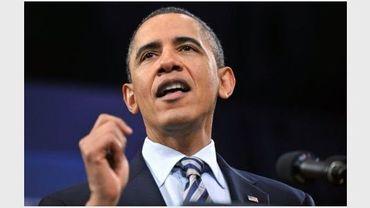 Barack Obama le 10 février 2011 à Marquette dans le Michigan