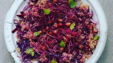 Salad Bar : salade rose au quinoa