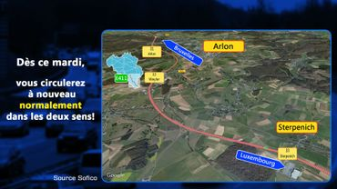 Bonne nouvelle sur l'E411 à Sterpenich: le chantier se termine