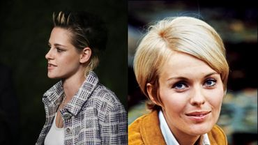 Kristen Stewart (à gauche) incarnera l'actrice Jean Seberg (à droite) au cinéma