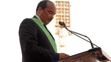 Le président mauritanien Mohamed Ould Abdel Aziz lors de son investiture à Nouakchott le 2 août 2014
