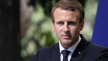 Le président français Emmanuel Macron à Athènes, le 8 septembre 2017