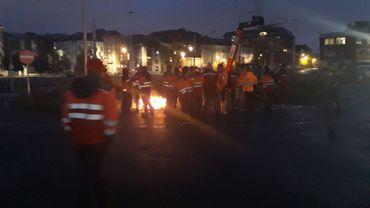 Le piquet de grève à été établi dès 4h30 ce matin.
