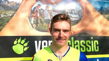 Jimmy Duquennoy au départ de Paris-Roubaix en avril dernier