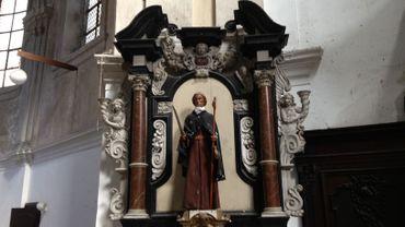 L'intérieur de l'ancienne église Saint-Jacques à Namur