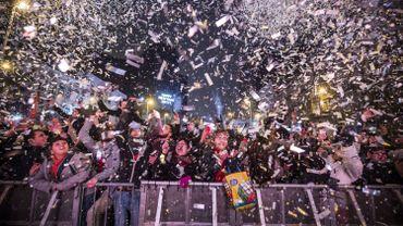 Festivités du nouvel an à Bruxelles en 2016.
