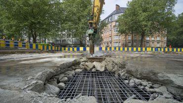Les syndicats de la construction manifestent à Bruxelles contre le dumping social