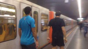 #RaceTheTube: la course de l'homme contre le métro, vaincu à Bruxelles