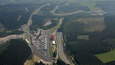 Vue générale du circuit de Spa-Francorchamps