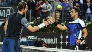Andy Murray, à gauche
