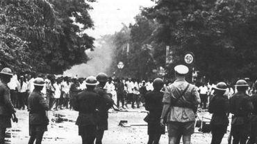 L'armée congolaise intervient lors des émeutes de Léopoldville