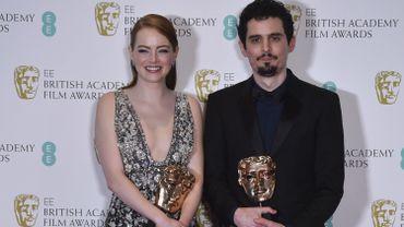 Emma Stone et Damien Chazelle aux Bafta