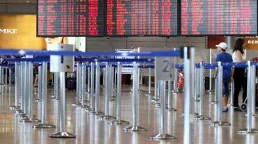 L'aéroport Ben Gourion de Tel Aviv vide