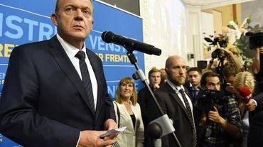 Le chef de file des libéraux danois Lars Løkke Rasmussen (g), le 18 juin 2015 à Copenhague
