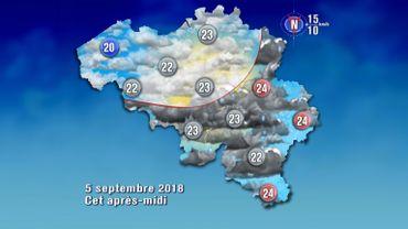 Météo de ce mercredi: des averses et des orages au programme