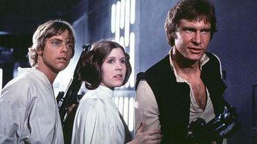 """""""Star Wars VII"""" marquera le retour de Mark Hamill, Carrie Fisher et Harrison Ford, ici dans le quatrième volet """"Un nouvel espoir"""""""