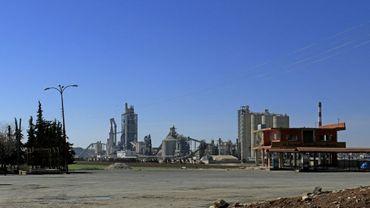 L'usine Lafarge de Jalabiya en février 2018