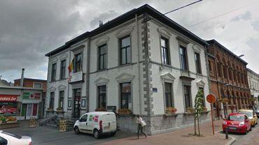La maison communale d'Anderlues.