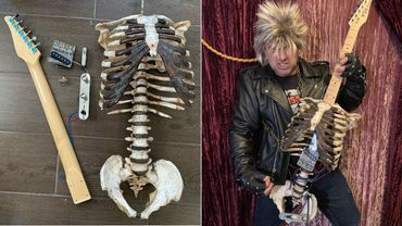 [Zapping 21] Un fan de metal a transformé le squelette de son oncle décédé en guitare