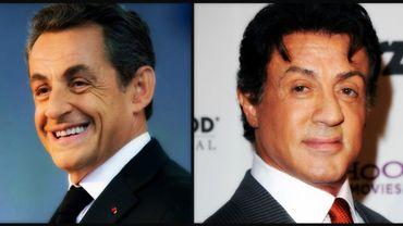 Nicolas Sarkozy et Sylvester Stallone