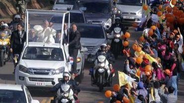 Le pape François à Caacupé, principal lieu de pèlerinage du pays sud-américain, le 11 juillet 2015