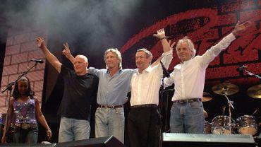 David Gilmour, Roger Waters, Nick Mason et Richard Wright en concert en 2005