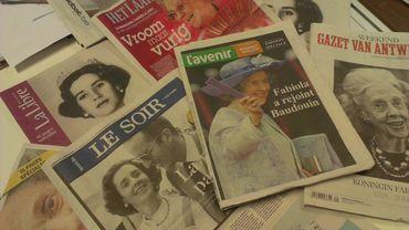 Le décès de la reine Fabiola a fait la une de tous les quotidiens belges.