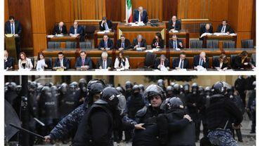 Séance au parlement libanais et heurts dans les rues de Beyrouth, ce 11 février 2020