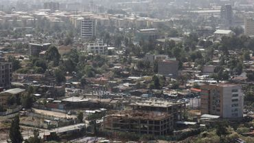 Vue d'Addis-Abeba, la capitale éthiopienne, en 2019