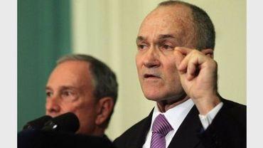 Le maire de New York, Michael Bloomberg et le patron de la police Ray Kelly le 20 novembre 2011 à New York
