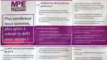 """Le tract actuellemen t diffusé dans la banlieue liégeoise: l'affaire Publifin """"récupérée"""" par l'éthique islamiste"""