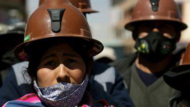 Des partisans de l'ancien président Evo Morales à El Alto le 12 août 2020