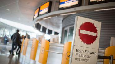 Une scène de grève à la Lufthansa.