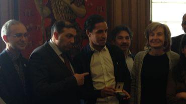 Mohamed El Marcouchi reçoit la médaille communale de Molenbeek
