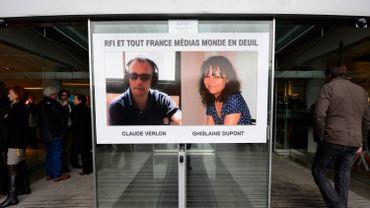 Les deux reporters français, Ghislaine Dupont et Claude Verlon