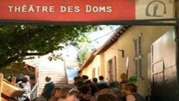 L'entrée du théâtre des Doms à Avignon