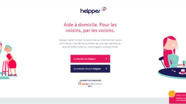 Capture d'écran du site internet: https://www.helpper.be/fr/