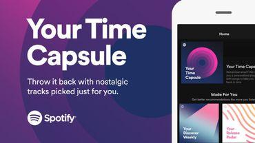 Spotify propose des capsules temporelles musicales personnalisées