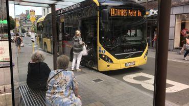 Un des onze bus hybrides circulant à Namur depuis quelques mois