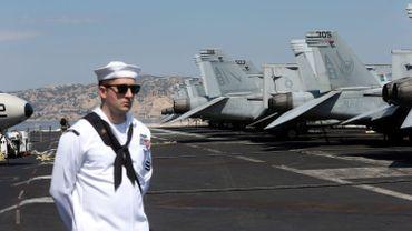 Le porte-avions américain USS Harry S Truman, en escale à Marseille en juin 2018.