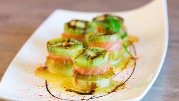 Bouchées de Kiwi de l'Adour IGP/Label Rouge au saumon
